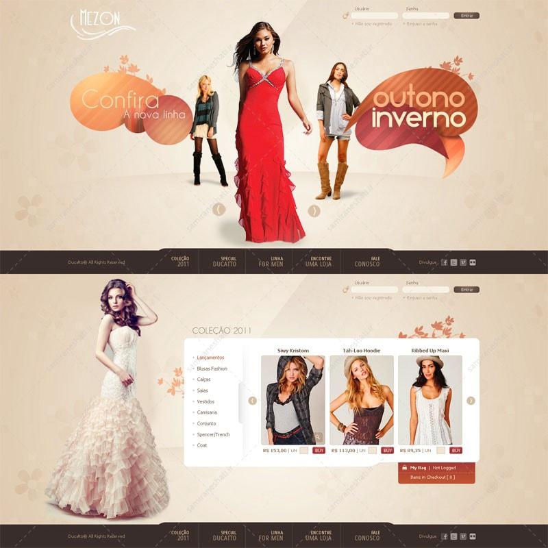 قالب سایت مزون و لباس