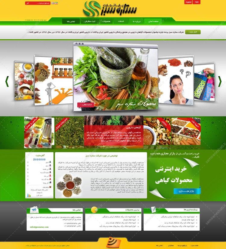 طراحی قالب سایت ادویجات