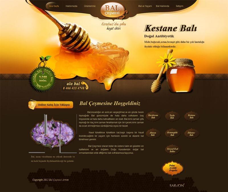 قالب سایت تولید عسل