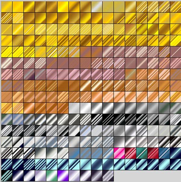 استایل طلایی فتوشاپ