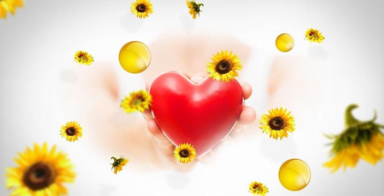 اسلایدر قلب و گل