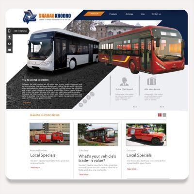 طراحی سایت شهاب خودرو